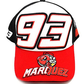 2016 New Marc Marquez Large 93 The Ant Moto GP Baseball Cap (Red)