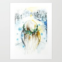 Winter Glow Art Print by Holly Sharpe