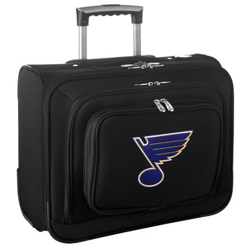 St. Louis Blues Carry-On Rolling Laptop Bag - Black - http://www.shareasale.com/m-pr.cfm?merchantID=7124&userID=1042934&productID=540327672 / St. Louis Blues