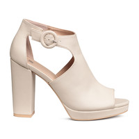 Platform ankle boots - Light beige - Ladies | H&M GB