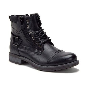 New Men's Desert-1 Military Tall Combat Zipped Boots