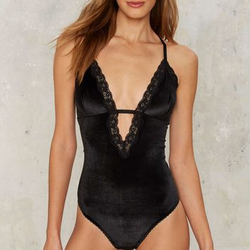 Nasty Gal Collection Angelique Velvet Bodysuit