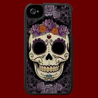 Vintage Skull and Roses iPhone 4 Speck Case from Zazzle.com by artgrrlproductions