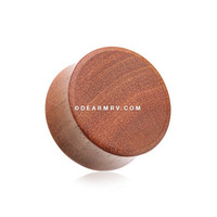 A Pair of Sabo Wood Organic Double Flared Ear Gauge Plug