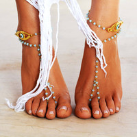"Women Barefoot Sandal ""Luck & Faith"""