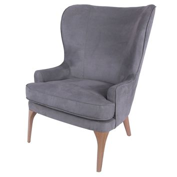 Bjorn Fabric Accent Chair, Denim Dove Gray