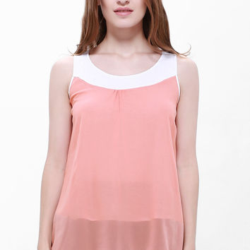 Plus Size Chiffon Tank Top