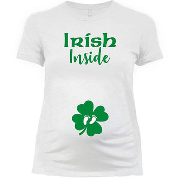 St Patricks Day Pregnancy Announcement St Pattys Day Shirt Maternity T Shirt St Paddys Day Outfit Baby Reveal Saint Pats Ladies Tee - SA1030