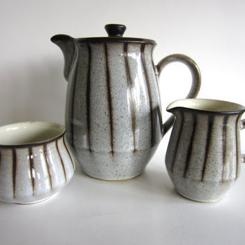 Denby Studio Coffee Set Mid Century Modern Grey by pillowsophi