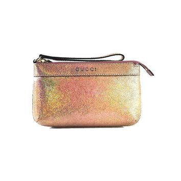 Gucci Women's Clutch Holographic Pink Wristlet 274181