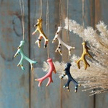 Antlers Ornament~Gold Multi
