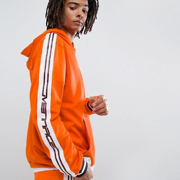 Mennace Track Hoodie In Orange With Taping at asos.com