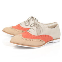 MEL Leather Brogues - View All  - Shoes  - Topshop