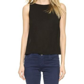 AIR by alice + olivia Back Cowl Top