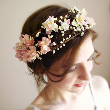bohemian flower head wreath  PETIT CHERIE   fairy by thehoneycomb