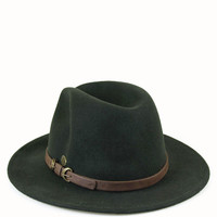 Hunter Green Fedora – Spotted Moth