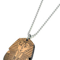 King Tut Wood Pendant