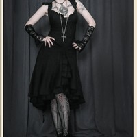 CURIOUS NOTION FLUTTER GOTHIC TEA DRESS