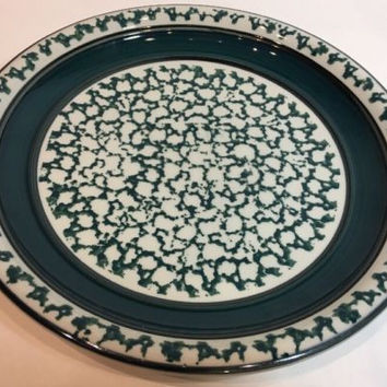 Country Crock Stoneware Sponge Dark Green Oven to Table Dinner P & Best Stoneware Dinner Plates Products on Wanelo