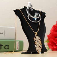 Bust Chain Necklace Earrings Stand Showcase