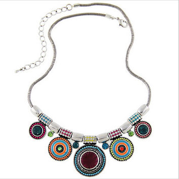 Women Choker Necklace Fashion Charms Rhinestones Chunky Statement Necklace Collares 2016 Jewelry