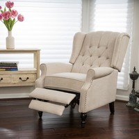 Christopher Knight Home Walter Light Beige Fabric Recliner Club Chair | Overstock.com Shopping - The Best Deals on Recliners