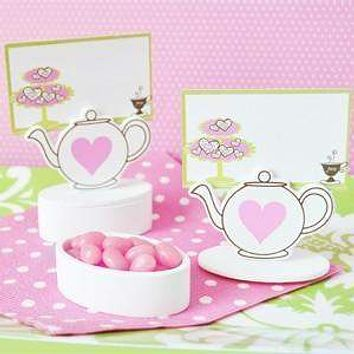 12 Teapot Favor Box Place Card Holder Bridal Wedding Favors with Cards