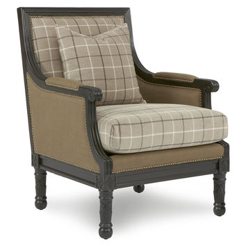 Parker Plaid Accent Chair, Tan, Accent U0026 Occasional Chairs