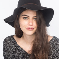 Ribbon Felt Girls Floppy Hat Black One Size For Women 26869810001