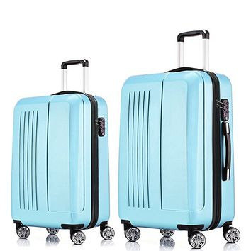 Luggage Sets 2 Piece Expandable Hardside Spinner Suitcase