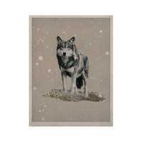 "Monika Strigel ""Wolf"" KESS Naturals Canvas (Frame not Included)"