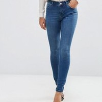 ASOS | ASOS Lisbon Mid Rise Skinny Jeans In Abbie Wash at ASOS