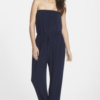 Women's Marc New York by Andrew Marc Strapless Drawstring Jumpsuit