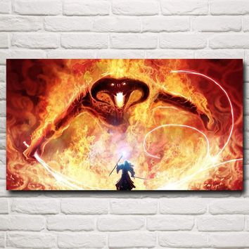 5d diy diamond painting kits cross stitch Rhinestone embroidery plastic crafts Gandalf The Lord of the Rings Balrog beading