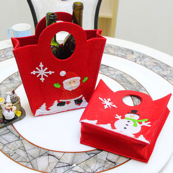 Christmas Decoration Embroidery Bags Wine Bottle Bags [9199620548]