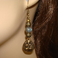Women's Labradorite Ganesha Earrings - Jewelry, Women's Jewelry, Gemstone Jewelry, Labradorite Earrings, Ganesha Earrings