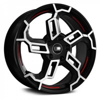 HD® - SWITCH Black with Machined Face and Red Undercut Accents