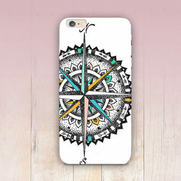 Compass Illustration Travel Phone Case iPhone 6 Case - iPhone 5 Case - iPhone 4 Case - Samsung S4 Case - iPhone 5C - Tough Case - Matte Case