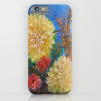 Modern Vintage Yellow Flowers iPhone & iPod Case by RokinRonda | Society6