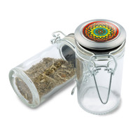 Glass Jar -  Pure Blossom Mandala - 75ml Herb and Spice Storage Container