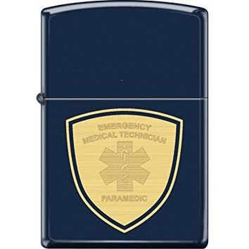 Zippo Custom Design EMT Reg Navy Matte Windproof Collectible Lighter. Made in USA Limited Edition & Rare