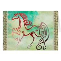 Horse Tails Card