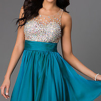 JVN by Jovani Jeweled Short Dress