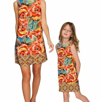 Fox Adele Shift Floral Mommy and Me Dresses