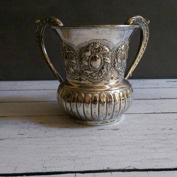 Antique Sterling Silver Wash Cup/ Hanukkah Gift/ Hadad Sterling Silver Wash Cup/ Negel Vasser Cup/ Antique Judaica Sterling Silver