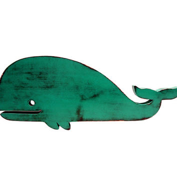 Cute Wooden Whale (Pictured In Teal) Nursery Decor Kids Room Art Wooden Wall Sign Cottage Chic Shabby Chic Photo Props Wooden Art