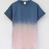 ANDCLOTHING — Sunset Dip Dye Tee