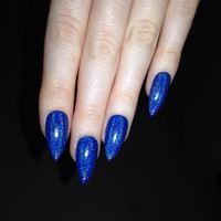 Holographic Stiletto nails, Nail designs, Nail art, Nails, Stiletto nails, Acrylic nails, Pointy nails, Fake nails