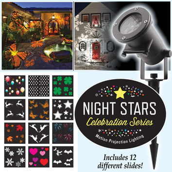 Night Stars Celebration Series Light Projector