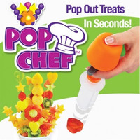 Pop Chef Kitchen Fruit Cutter Maker Shaper Cake Twister Slicer Home Food Decorator Tool Hot Seen On TV  6 Shape